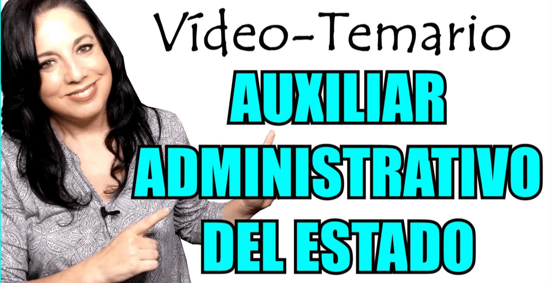 temario auxiliar administrativo estado