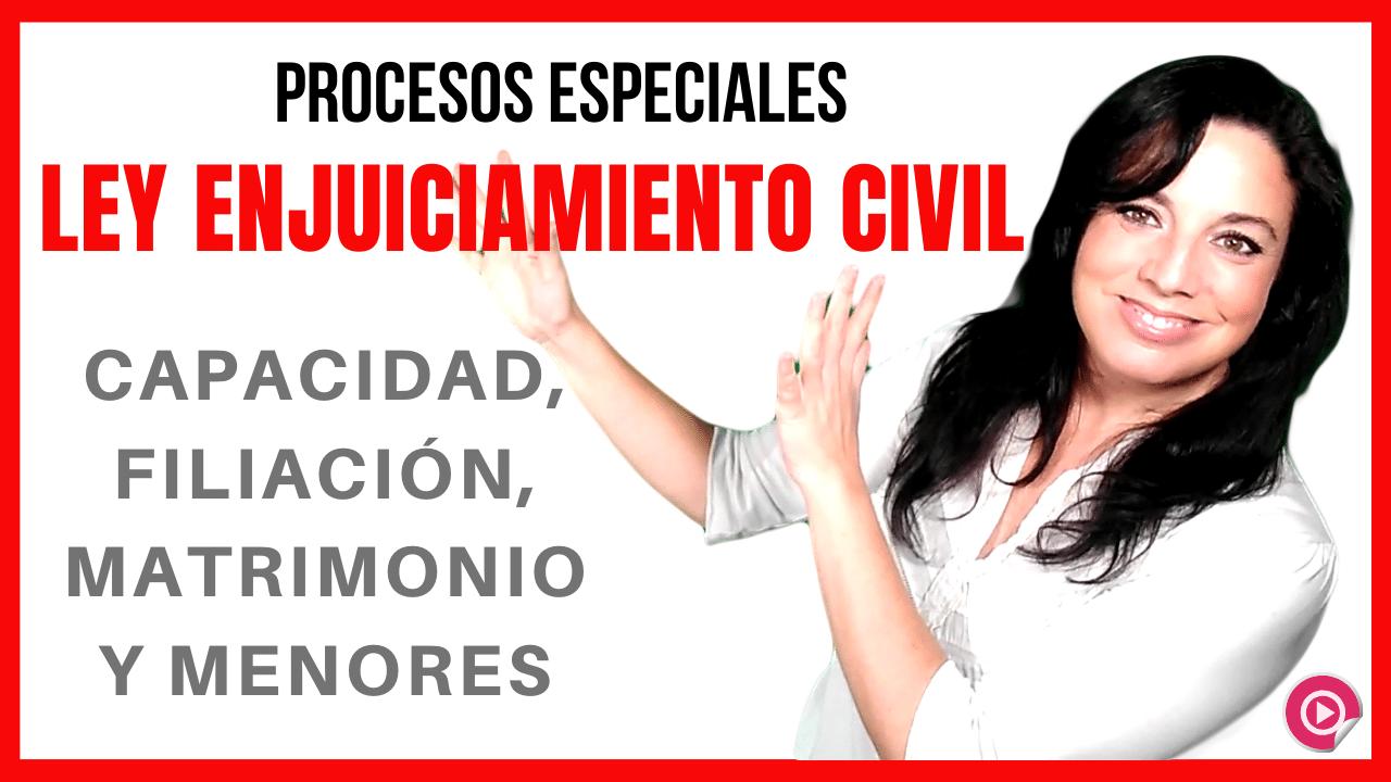 ley de enjuiciamiento civil procesos especiales