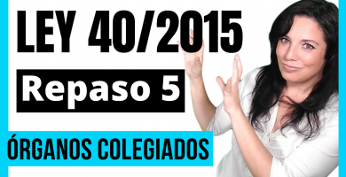 organos colegiados ley 40/2015