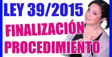 ley 39/2015 procedimiento administrativo