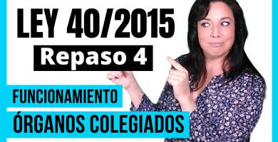 repasando la ley 40/2015 para oposiciones