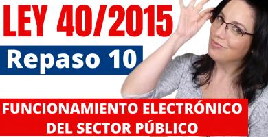 funcionamiento electronico ley 40/2015