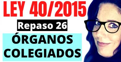 opositora estudiando la ley 40/2015
