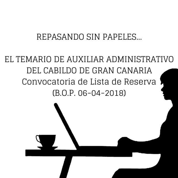 temario auxiliar administrativo