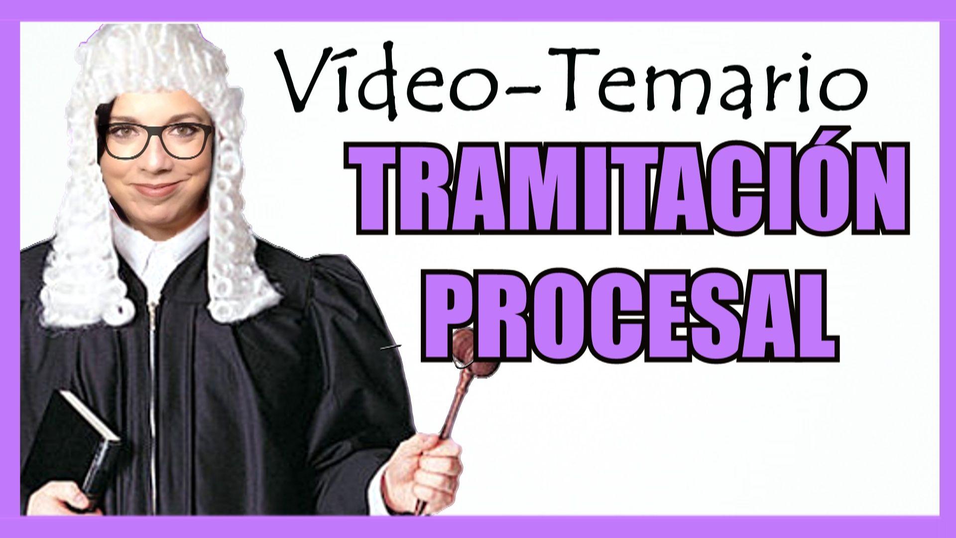 temario tramitacion procesal