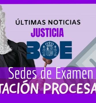 examen tramitacion procesal sedes