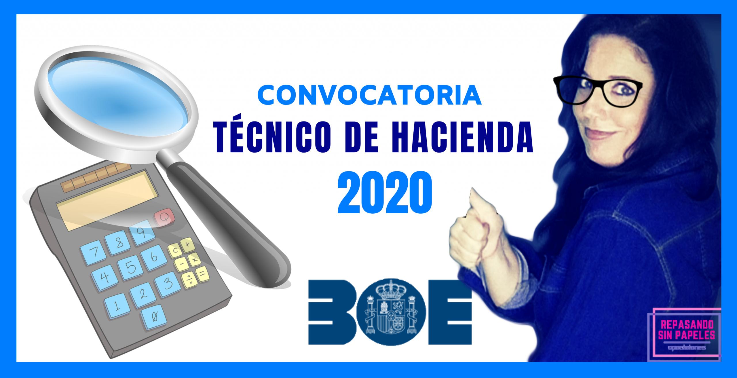 boe tecnico de hacienda convocatoria 2020