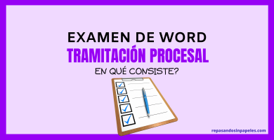 tercer ejercicio de word de tramitación procesal 2020