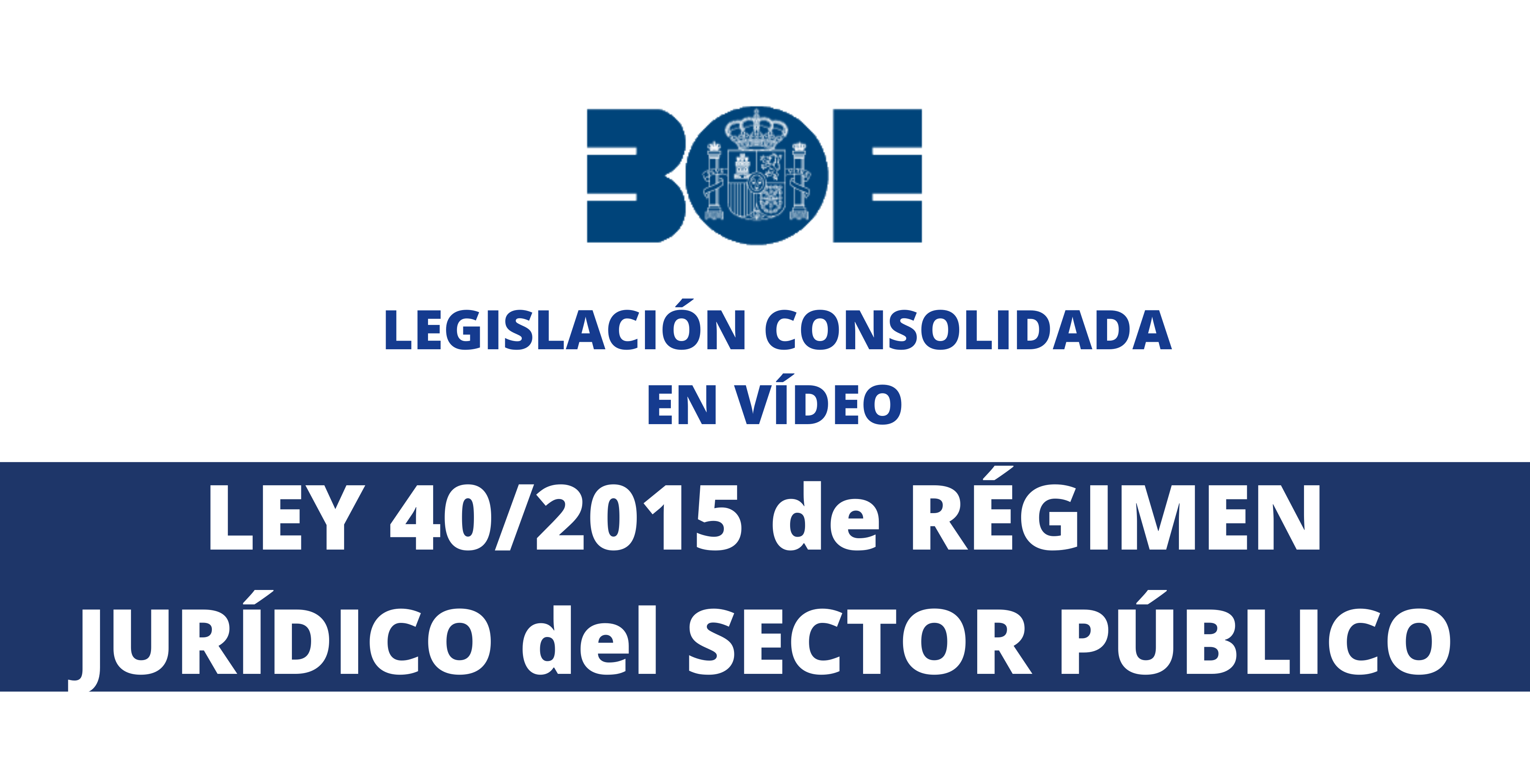 indice ley 40/2015 boe