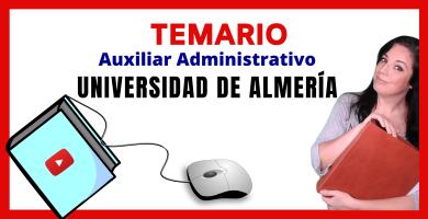 opositora auxiliar administrativo universidad almeria