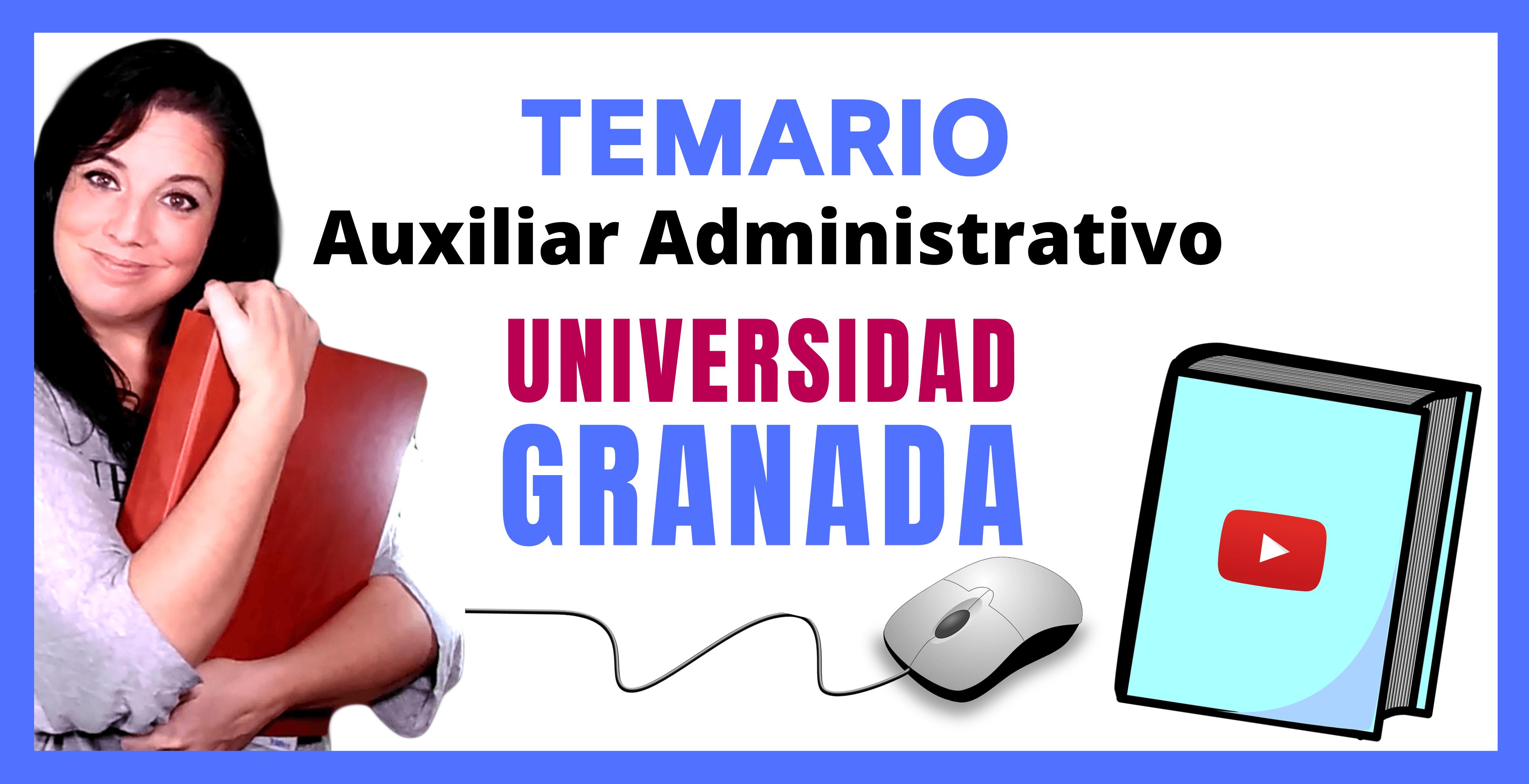 opositora auxiliar administrativo universidad granada