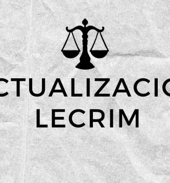 actualizacion lecrim oposiciones justicia