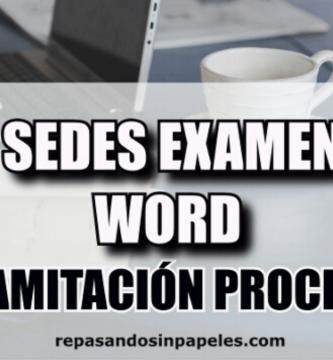 examen tramitacion procesal 2020