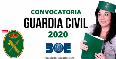 opositor guardia civil 2020