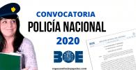 opositor policia nacional 2020 mirando convocatoria en el boe