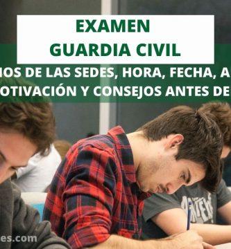 sedes examen escrito guardia civil