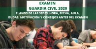 opositores haciendo el examen guardia civil 2020