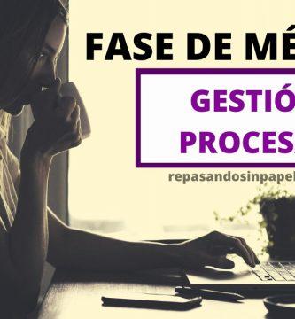 fase concurso de gestion procesal