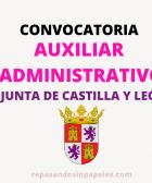 oposiciones auxiliar administrativo junta castilla y leon