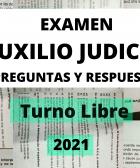 respuestas del examen de auxilio judicial 2021