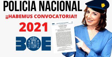 policia nacional 2021 boe inscripcion